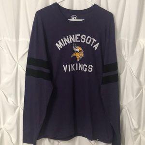 Minnesota Vikings LS Tee '47 NFL Brand NWT